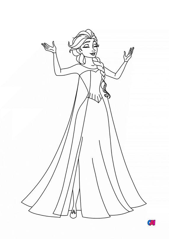 Coloriage la reine des neiges - Elsa 1