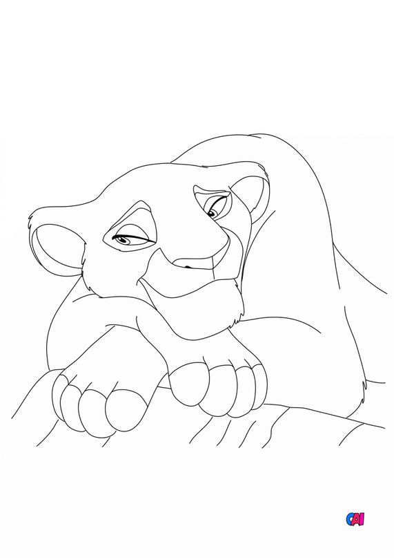 Coloriage Roi Lion - Sarabi