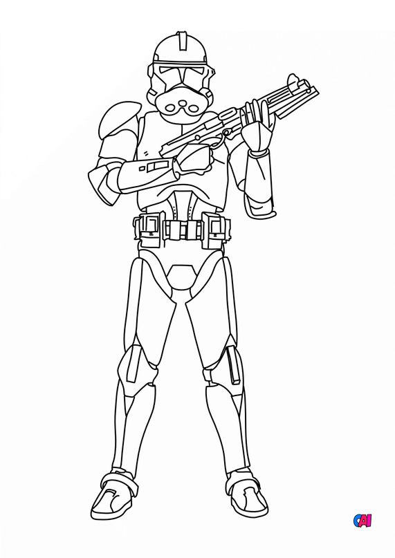 Coloriages Star Wars - Stormtrooper