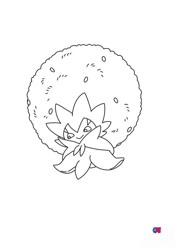 Coloriage Pokémon - 830 - Blancoton