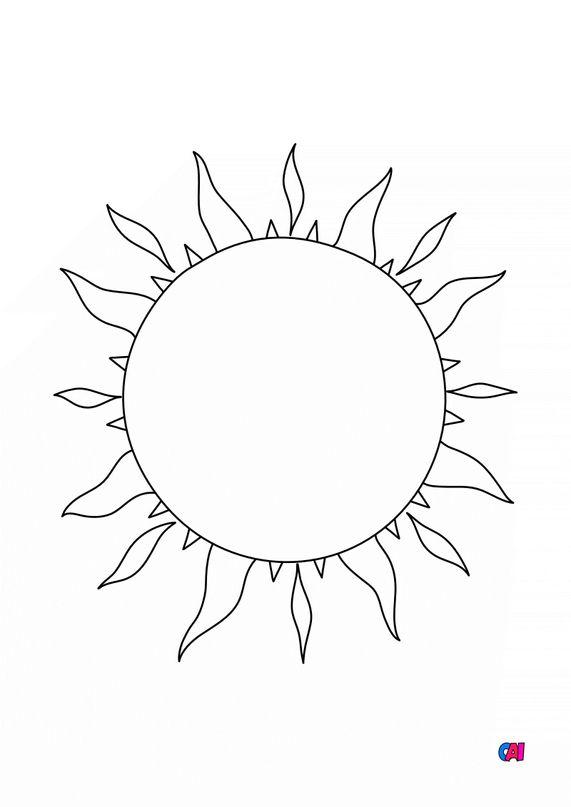 Mes premiers coloriages - Le Soleil