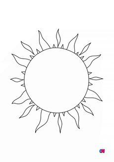 Coloriage Le Soleil