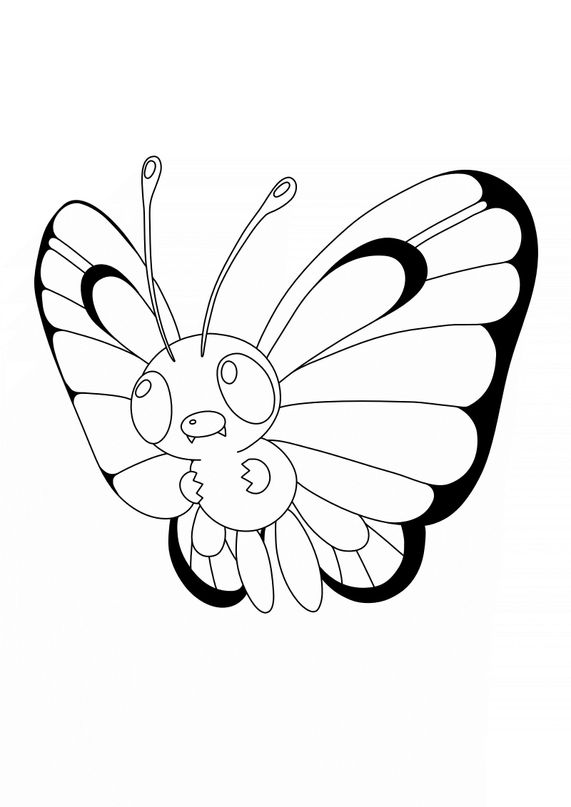 Coloriage Pokémon - Pokemon - 12 - Papilusion