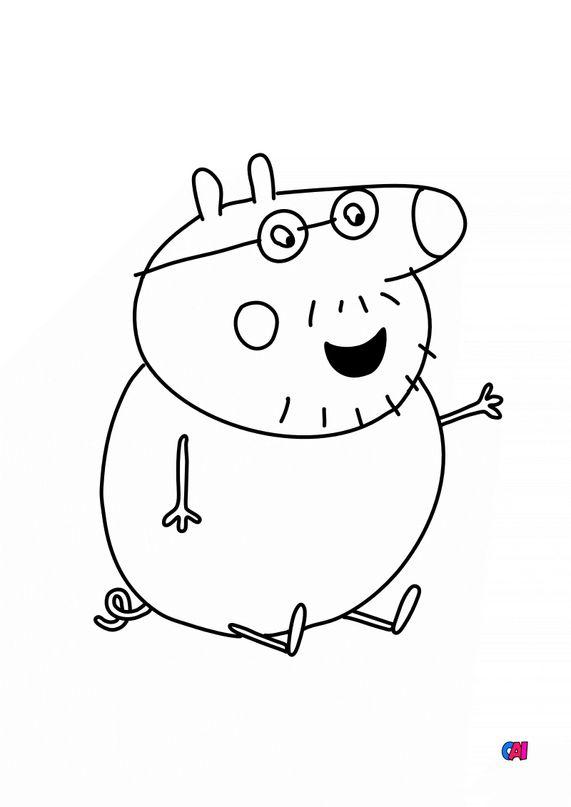 Coloriage Peppa Pig - Papa Pig