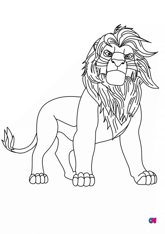 Coloriage Roi Lion - simba adulte
