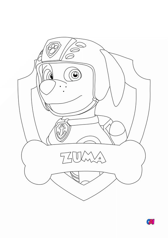 Coloriage Pat Patrouille - Zuma