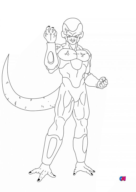Coloriage dragon ball z - Golden Freezer puissance max