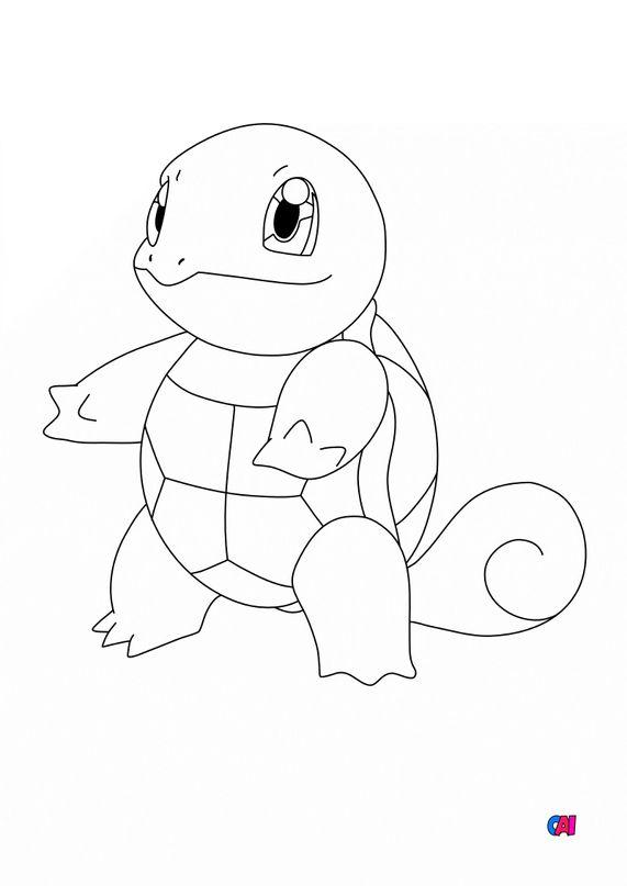 Coloriage Pokémon - 7 - Carapuce
