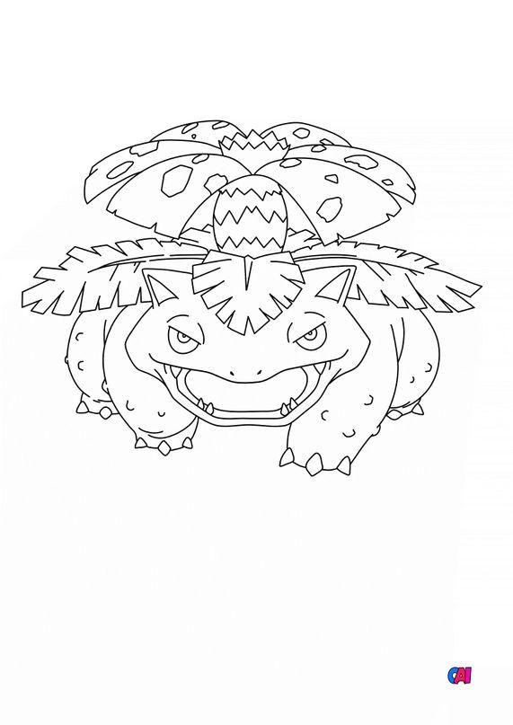 Coloriage Pokémon - 3 - Florizarre
