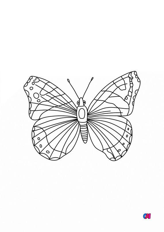 Coloriages d'animaux - Papillon 4