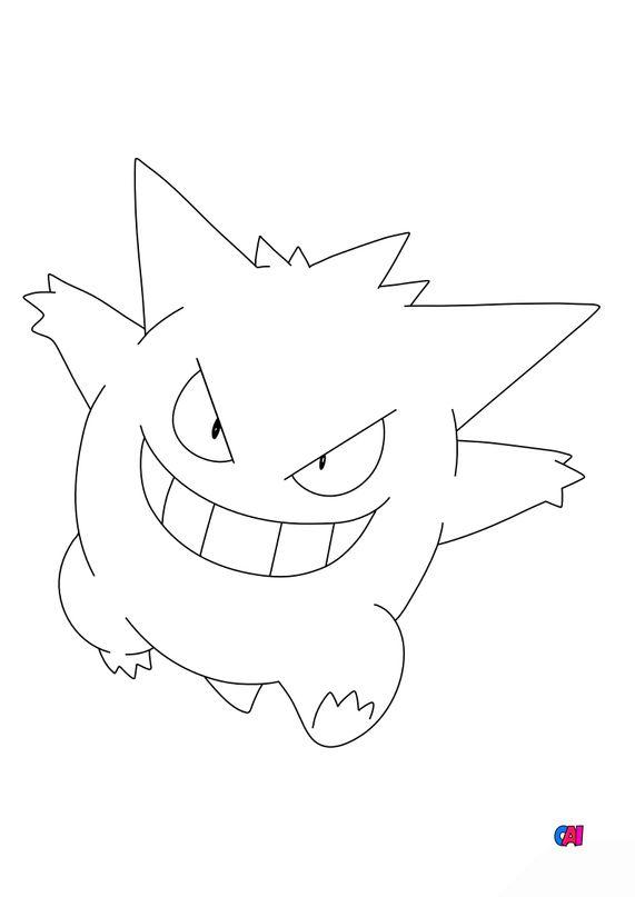 Coloriage Pokémon - 94 - Ectoplasma