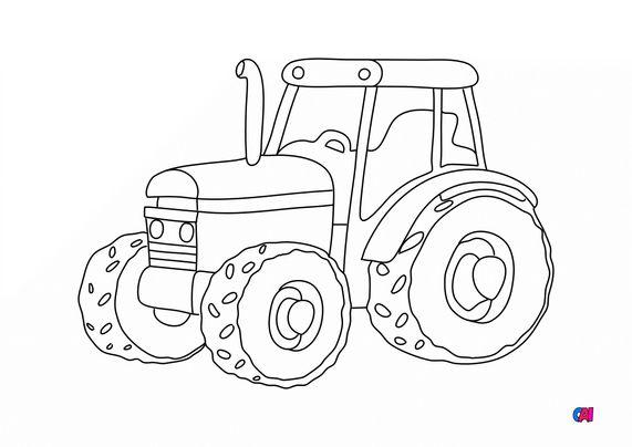 Mes premiers coloriages - Tracteur de la ferme