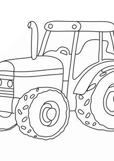 Coloriage Tracteur de la ferme