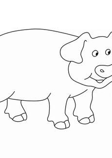 Coloriage Un cochon