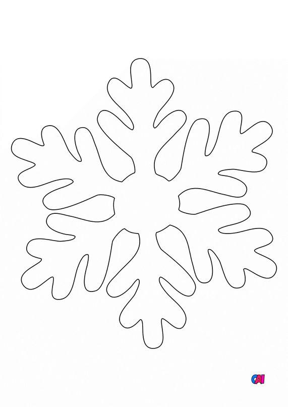 Coloriage de Noël - Flocon de neige
