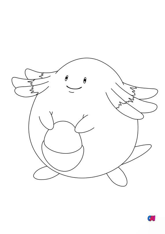 Coloriage Pokémon - 113 - Leveinard
