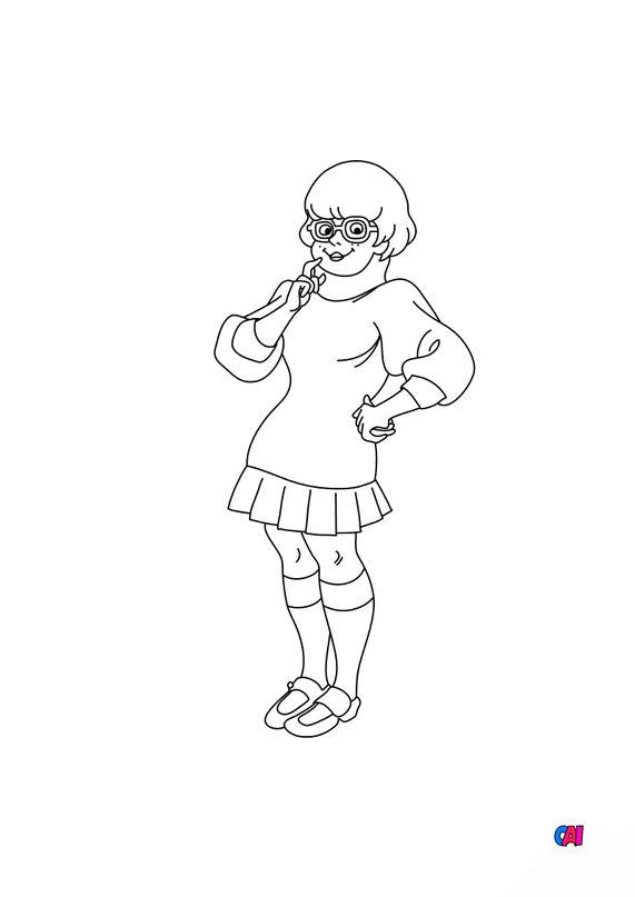Coloriage Scooby-doo - Vera Dinkley