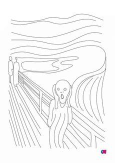 Coloriage Le cri Edvard Munch