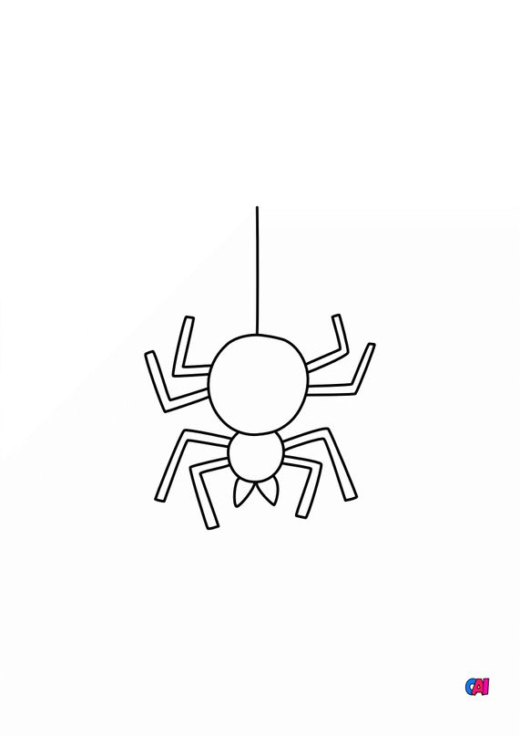 Coloriages Halloween - Halloween - Araignée