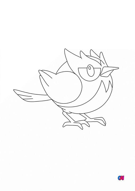 Coloriage Pokémon - 821 - Minisange