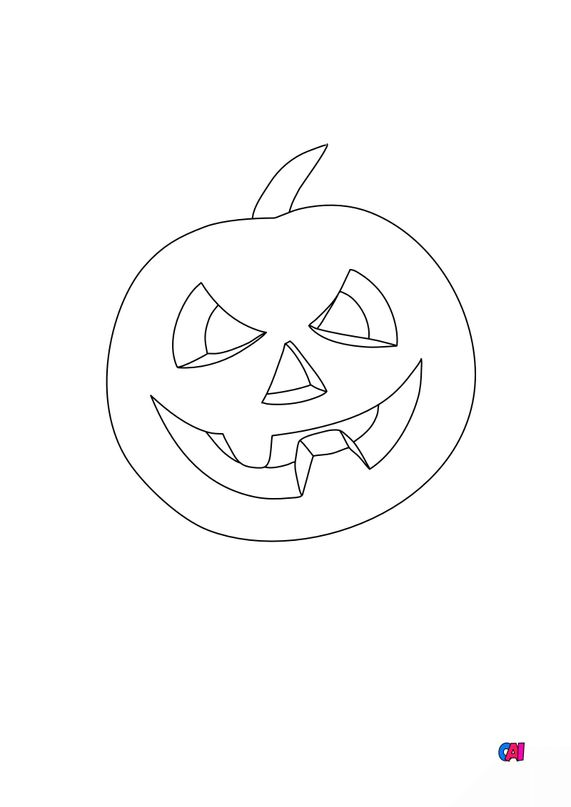 Coloriages Halloween - Citrouille 1
