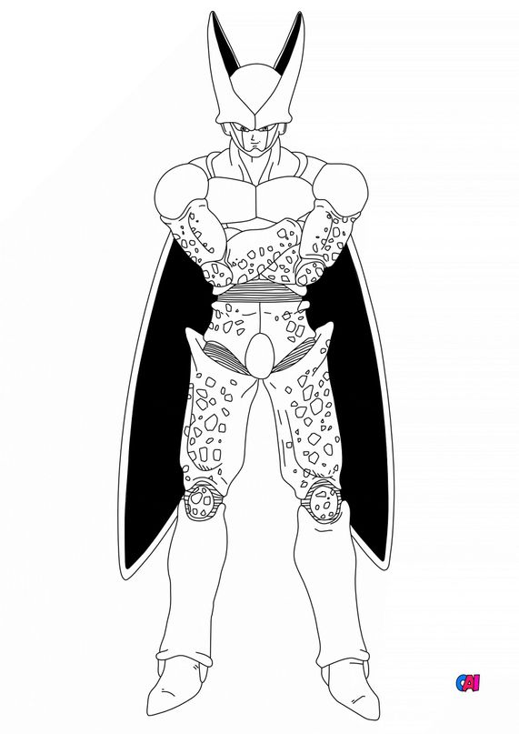 Coloriage dragon ball z - Cell