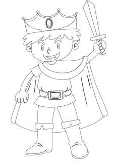 Coloriage le prince et son épée
