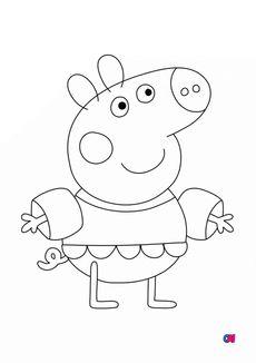 Coloriage Peppa Pig A Imprimer Peppa A La Plage