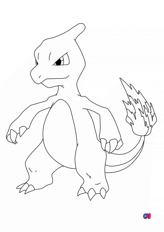 Coloriage Pokémon - 5 - Reptincel