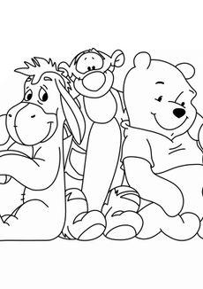 Coloriage Winnie et ses amis