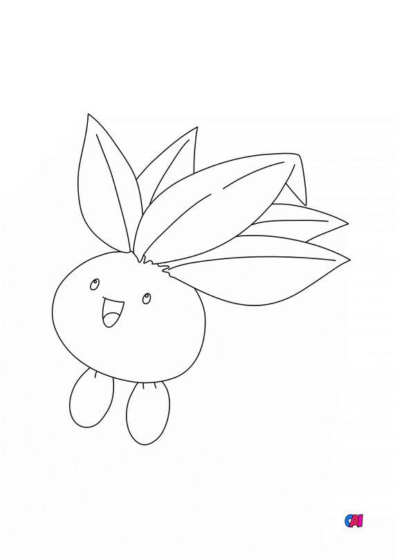 Coloriage Pokémon - 43 - Mystherbe
