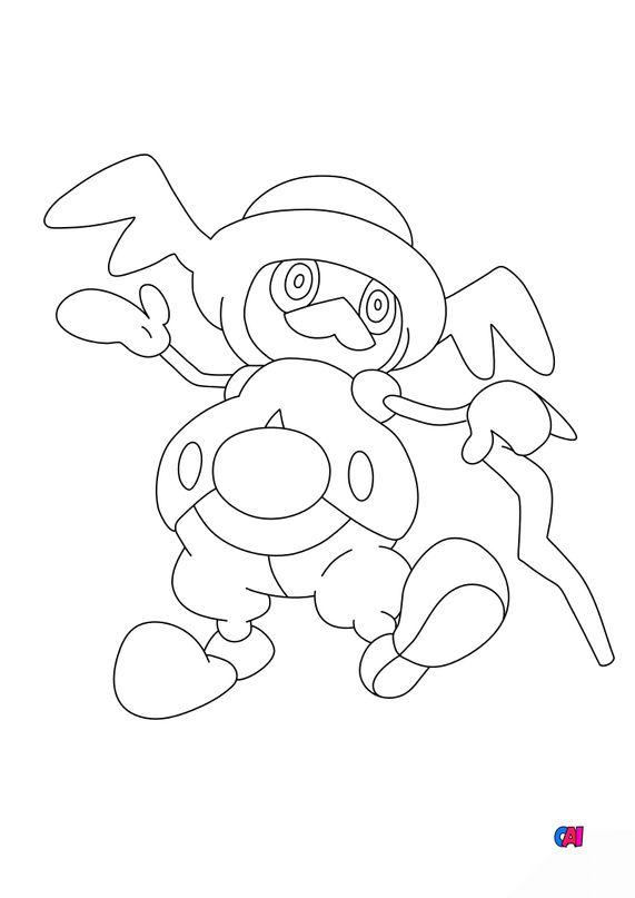 Coloriage Pokémon - 866 - M.Glaquette