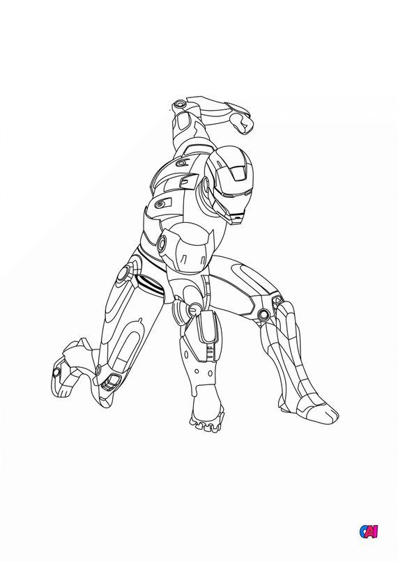 Coloriage Avengers à imprimer - Iron man