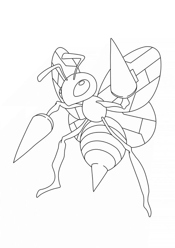 Coloriage Pokémon - 15 - Dardagnan