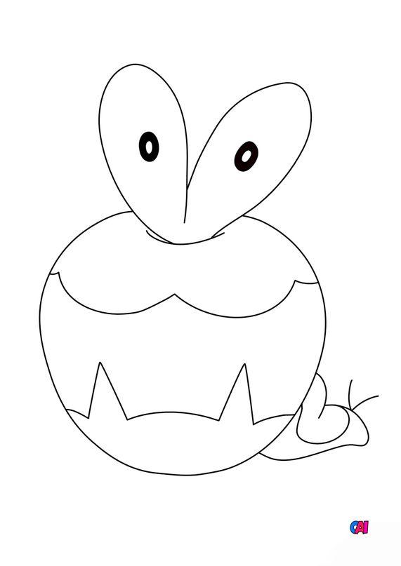 Coloriage Pokémon - 840 - Verpom
