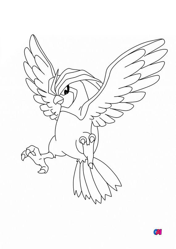 Coloriage Pokémon - 17 - Roucoups