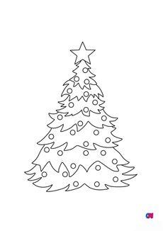 Coloriage Sapin de Noël 2