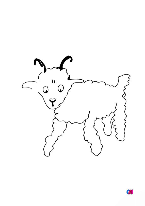 Coloriage Le petit Prince - Dessine-moi un mouton