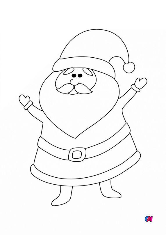 Coloriage de Noël - Père Noël  4