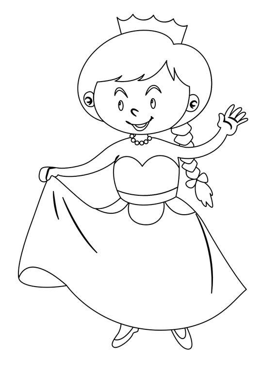Coloriage de Princesses - La petite princesse