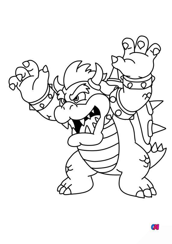 Coloriage Mario - Bowser