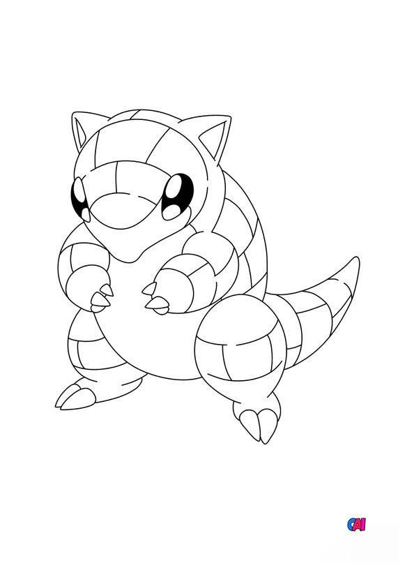 Coloriage Pokémon - 27 - Sabelette