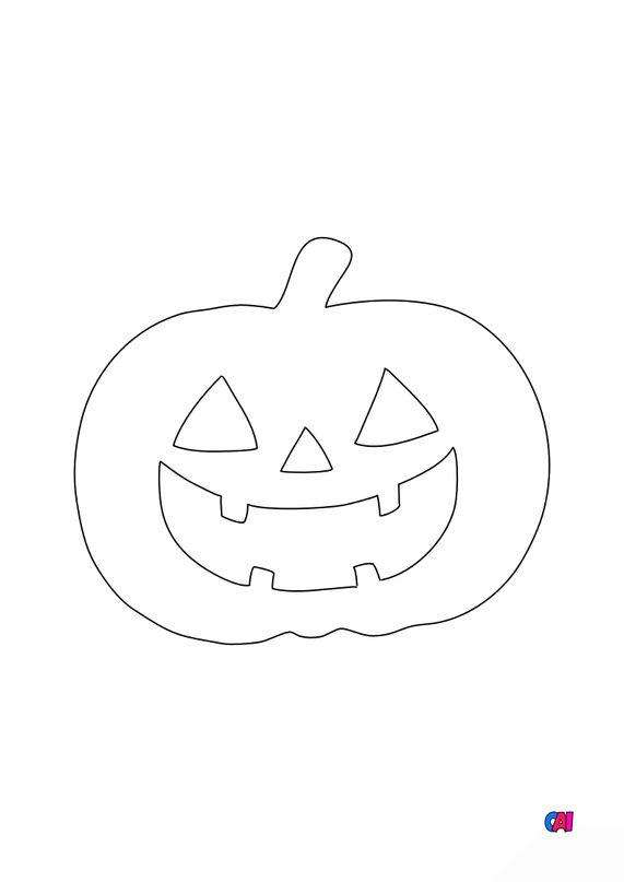 Coloriages Halloween - Citrouille 2