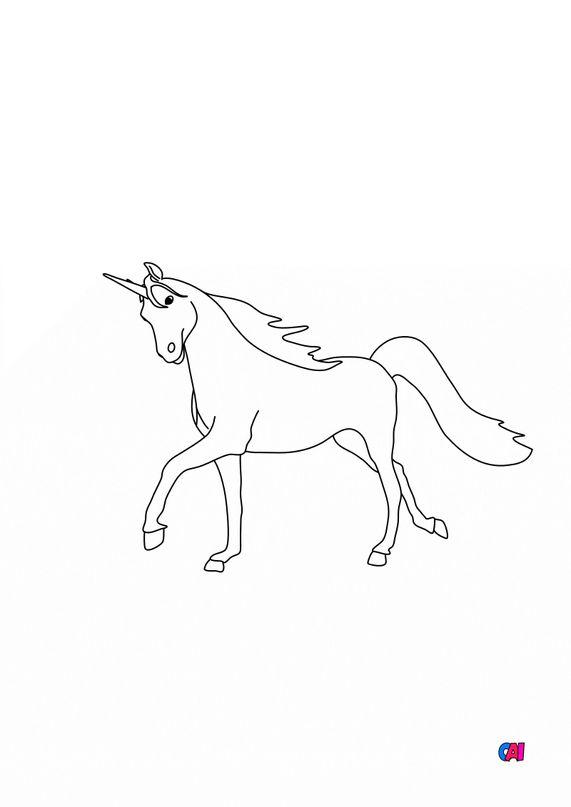 Coloriage Licornes - Licorne 1