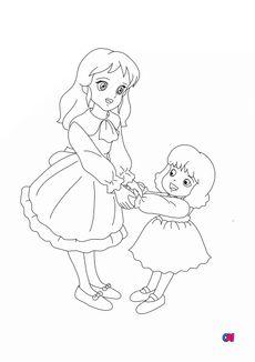 Coloriage Sarah et Lottie