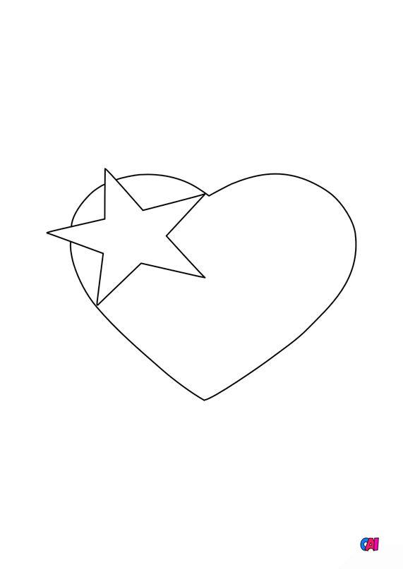 Mes premiers coloriages - Coeur étoile