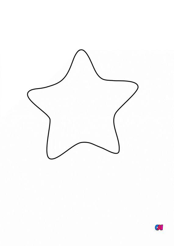 Mes premiers coloriages - Une étoile