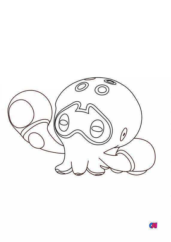 Coloriage Pokémon - 852 - Poulpaf
