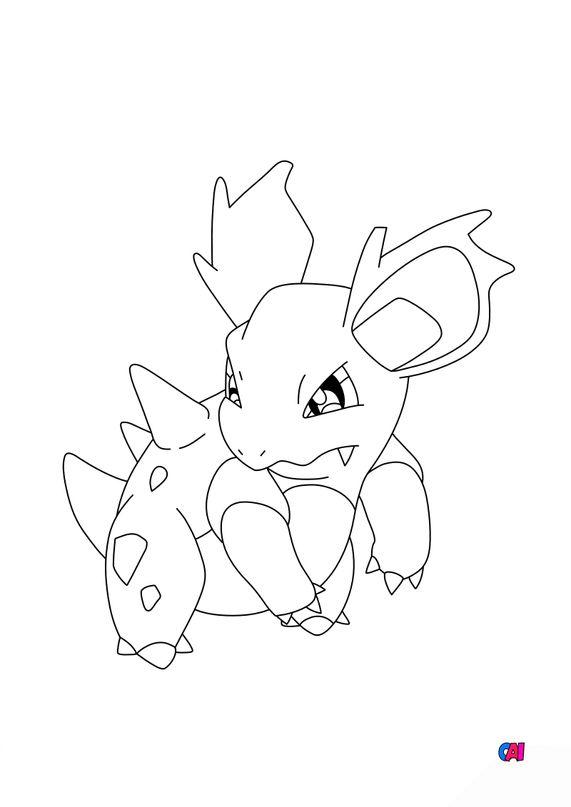 Coloriage Pokémon - 30 - Nidorina