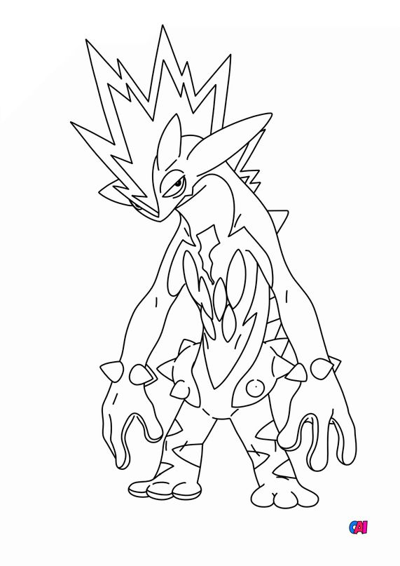 Coloriage Pokémon - 849 - Salarsen